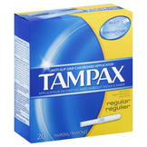 Tampax Tampax Tampons, Cardboard, Regular Absorbency, 20 tampons at mygofer.com