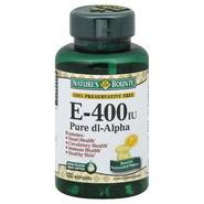 Nature's Bounty Vitamin E, 400 IU, Rapid Release Liquid Softgels, 120 softgels at Kmart.com