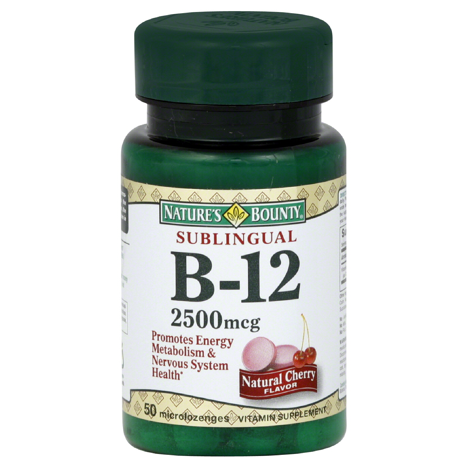 Nature's Bounty Vitamin B-12, 2500 mcg, Microlozenges