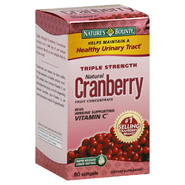 Nature's Bounty Cranberry Fruit Concentrate, Natural, Triple Strength, Rapid Release Liquid Softgels, 60 softgels at Kmart.com
