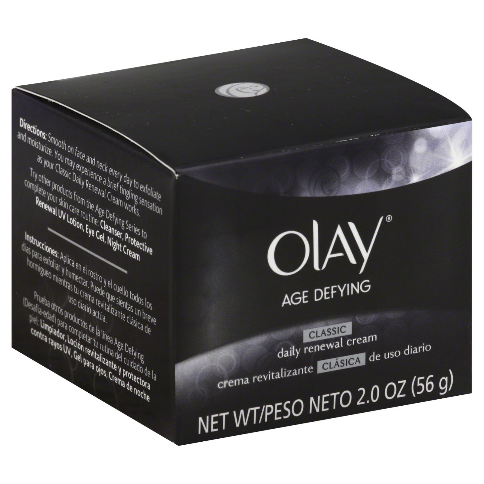 Olay Age Defying Renewal Cream, Daily, Classic, 2 oz (56 g)