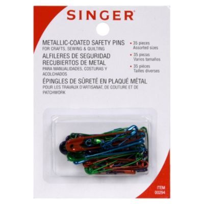 Singer  Safety Pins, Metallic-Coated,