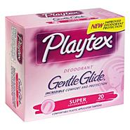 Playtex Gentle Glide Tampons, with Comfortable Plastic Applicator, Super Absorbency, Deodorant, 20 tampons at Kmart.com