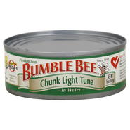 Bumble Bee Tuna, Premium, Chink Light, in Water, 5 oz (142 g) at Kmart.com