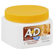 A&D Diaper Rash Ointment & Skin Protectant, Prevent, Original, 1 lb (454 g) at Kmart.com