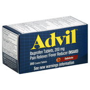 Advil Pain Reliever/Fever Reducer, 200 mg, Coated Tablets, 200 tablets at Kmart.com