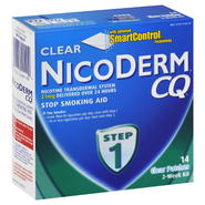 NicoDerm CQ Stop Smoking Aid, Step 1, Clear Patches, 2-Week Kit, 14 patches at Kmart.com