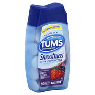 Tums Smoothies Antacid/Calcium Supplement, Extra Strength 750, Berry Fusion, Chewable Tablets, 60 tablets at Kmart.com