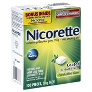 Nicorette Stop Smoking Aid, 2 mg, Fresh Mint Gum, 100 pieces at Kmart.com