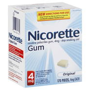 Nicorette Stop Smoking Aid, 4 mg, Gum, Original, 170 pieces at Kmart.com