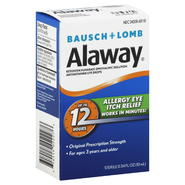 Bausch & Lomb Alaway Eye Drops, Antihistamine, 0.34 fl oz (10 ml) at Kmart.com