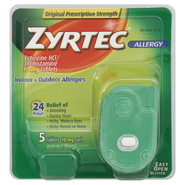 Zyrtec Allergy, Original Prescription Strength, 10 mg, Tablets, 5 tablets at Kmart.com