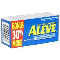 Aleve Naproxen Sodium Tablets, 220 mg, 130 tablets at Kmart.com