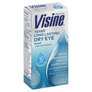 Visine Tears Lubricant Eye Drops, Long Lasting Dry Eye Relief, 0.5 fl oz (15 ml) at Kmart.com