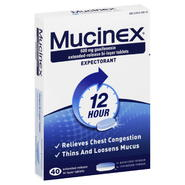 Mucinex Expectorant, 12 Hour, 600 mg, Extended-Release Bi-Layer Tablets, 40 tablets at Kmart.com