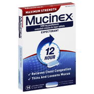 Mucinex Expectorant, 12 Hour, Maximum Strength, 1200 mg, Extended-Release Bi-Layer Tablets, 14 tablets at Kmart.com