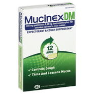 Mucinex DM Expectorant & Cough Suppressant, 12 Hour, Extended-Release Bi-Layer Tablets, 40 tablets at Kmart.com