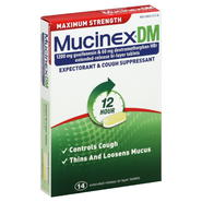 Mucinex DM Expectorant & Cough Suppressant, 12 Hour, Maximum Strength, Extended-Release Bi-Layer Tablets, 14 tablets at Kmart.com