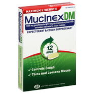 Mucinex DM Expectorant & Cough Suppressant, 12 Hour, Maximum Strength, Extended-Release Bi-Layer Tablets, 28 tablets at Kmart.com