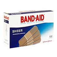 Band-Aid Adhesive Bandages, All One Size, Sheer, 100 bandages at Kmart.com
