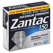 Zantac 150 Ranitidine, Maximum Strength, 150 mg, Tablets, Cool Mint, 24 tablets at Kmart.com