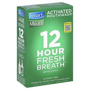 Smart Mouth Moutwash, Activated, 12 Hour Fresh Breath, Fresh Mint, 16 fl oz (480 ml) at Kmart.com