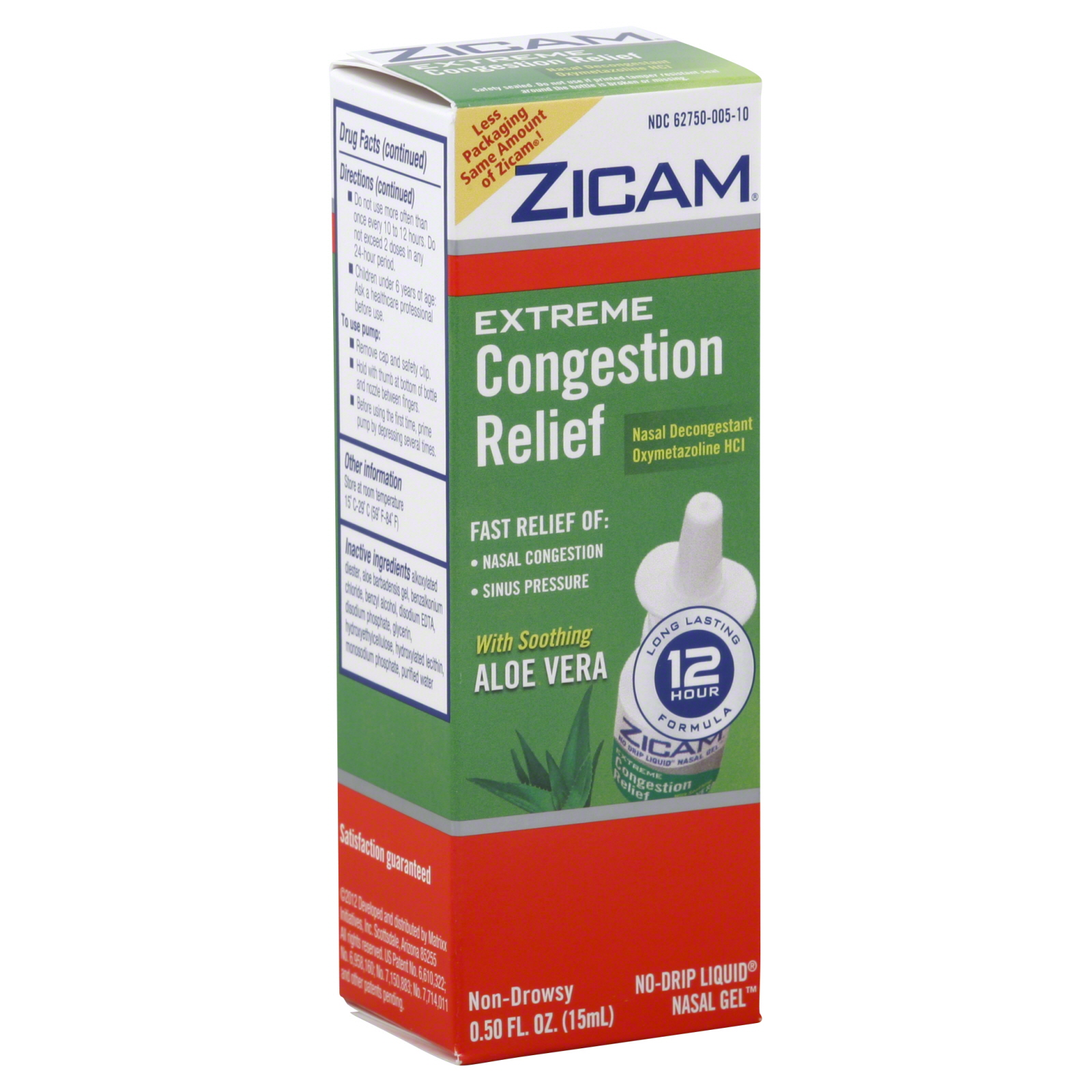 Congestion Relief, Extreme, No-Drip Liquid Nasal Gel, 0.5 fl oz (15 ml)