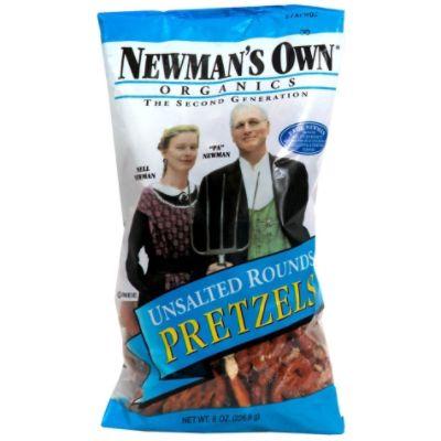 Newman's Own Organics Pretzels, Unsalted Rounds, 8 oz (226.8 g) PartNumber: 033W537854130001P KsnValue: 033W537854130001 MfgPartNumber: 53785413