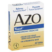 Azo Yeast, Dual-Action Formula, Tablets, 60 tablets at Kmart.com