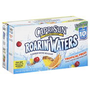 Capri Sun Roarin' Waters Water Beverage, Tropical Fruit Flavored, Fridge Ready Pack, 10 - 6 fl oz (177 ml) pouches [60 fl oz (1.77 lt)] at mygofer.com