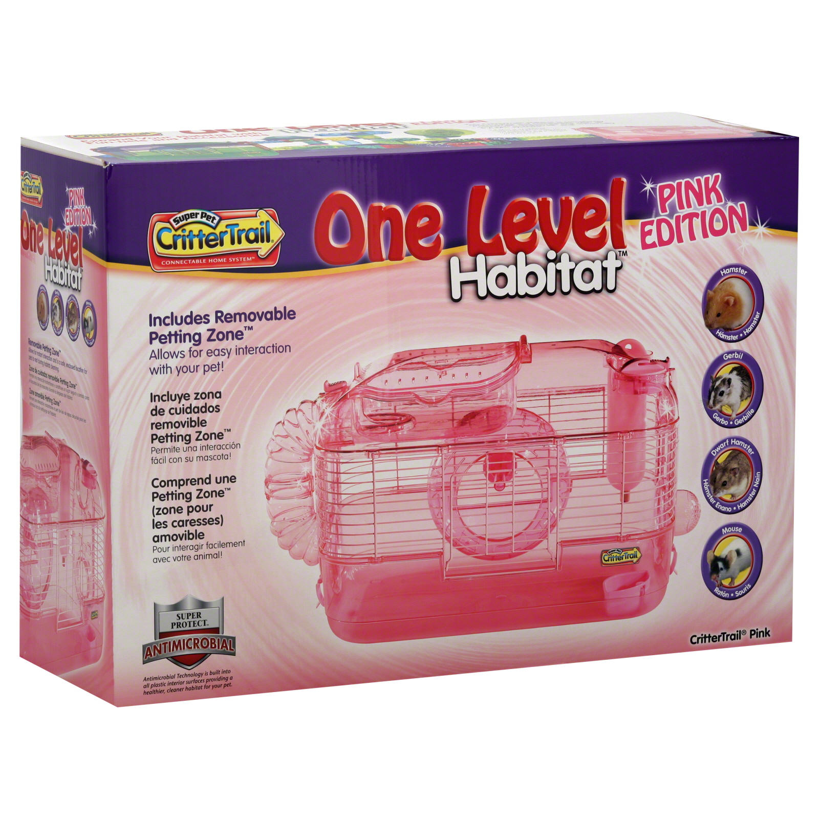 Pets International Ltd. Habitat, One Level, Pink Edition, 1 habitat