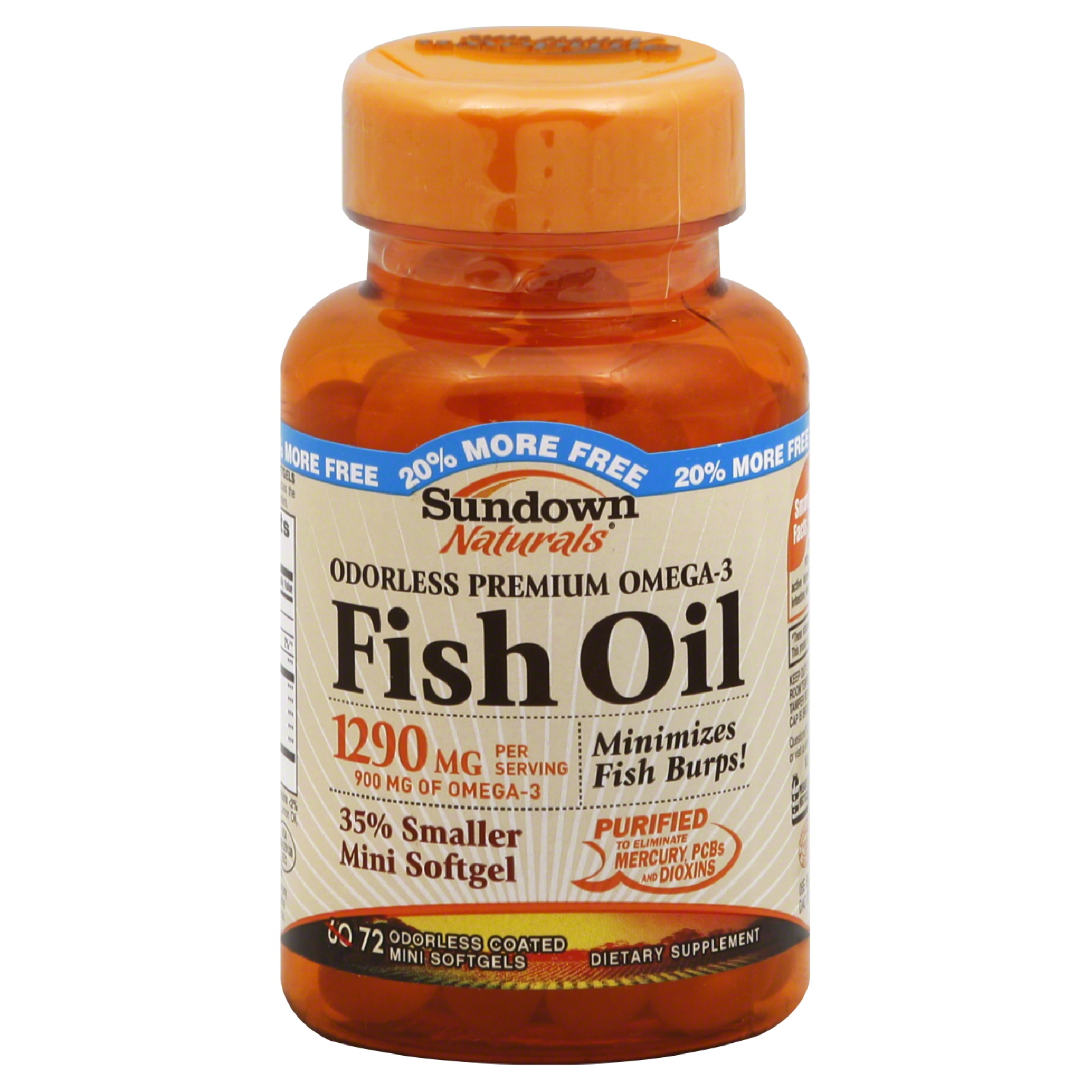 Sundown  Fish Oil, Odorless Premium