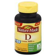 Nature Made Vitamin D, 1000 IU, Tablets, 200 tablets at Kmart.com