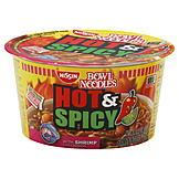 Nissin Bowl Noodles Soup, Ramen Noodle, Hot & Spicy, with Shrimp, 3.27 oz (92.6 g) at mygofer.com
