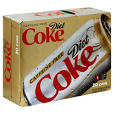 Coca Cola Cola, Diet, 20 - 12 fl oz (355 ml) cans [240 oz (7.1 lt)] at mygofer.com