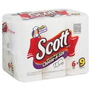 Scott Choose-A-Size Paper Towels, Choose-A-Size, Mega Roll, One-Ply, 6 rolls at Kmart.com