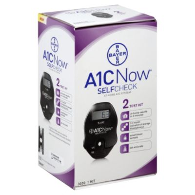 Bayer A1C Now At-Home A1C System, Self Check, 1 kit PartNumber: 069W001908234000P KsnValue: 069W001908234000