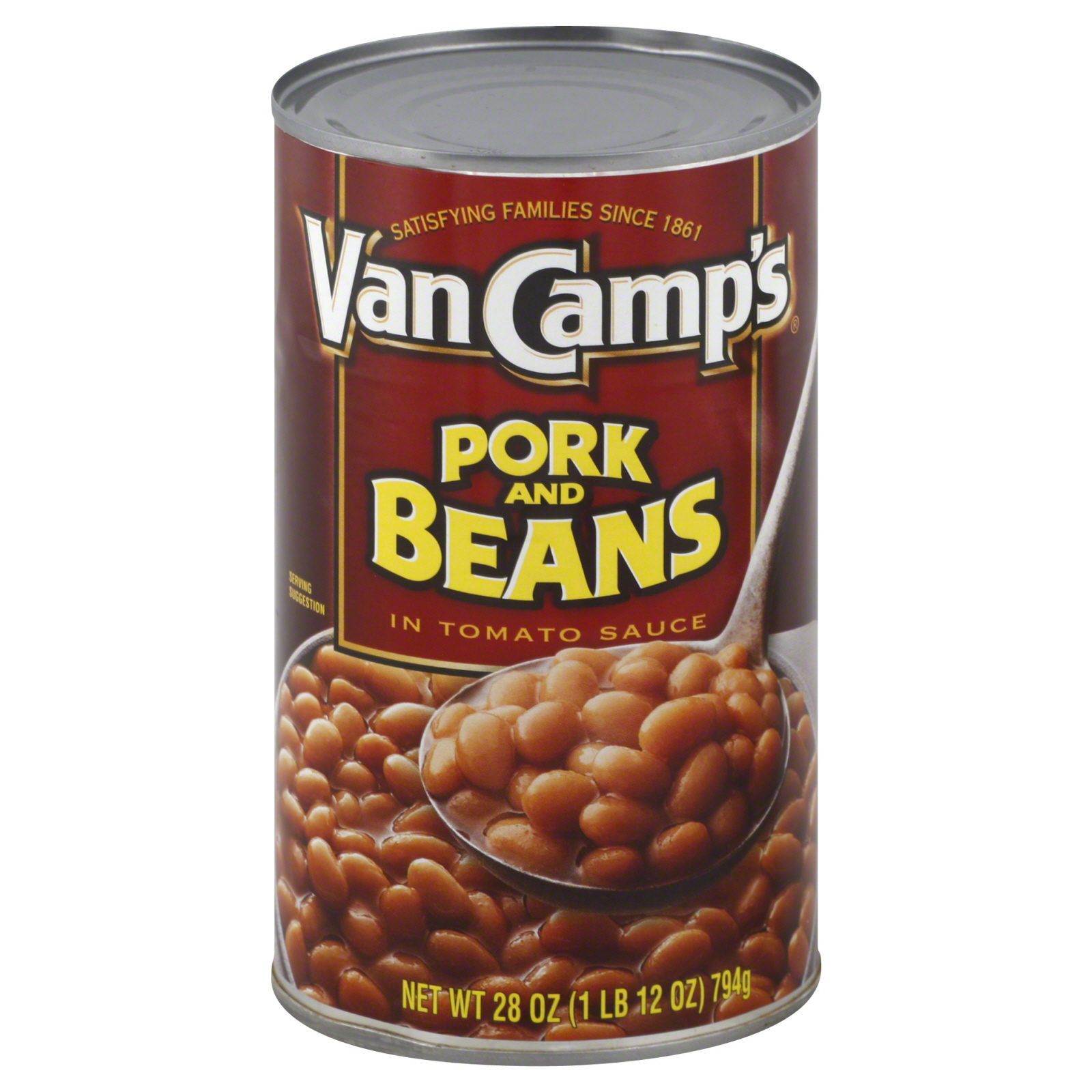 Van Camp's  Pork and Beans, in Tomato