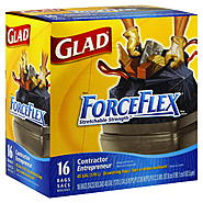 Glad ForceFlex Contractor Bags, Drawstring, 45 Gallon, 16 bags at Kmart.com