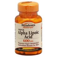 Sundown Naturals Alpha Lipoic Acid, Super, 600 mg, Capsules, 60 capsules at Kmart.com