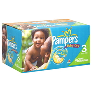 Pampers Baby Dry Diapers, Size 3 (16-28 lb), Sesame Street, 96 diapers at Kmart.com