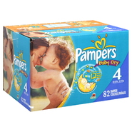 Pampers Baby Dry Diapers, Size 4 (22-37 lb), Sesame Street, 82 diapers at Kmart.com