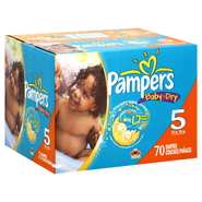 Pampers Baby Dry Diapers, Size 5 (27+ lb), Sesame Street, 70 diapers at Kmart.com