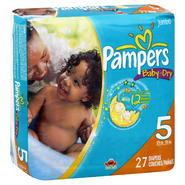 Pampers Baby Dry Diapers, Size 5 (27+ lb), Sesame Street, Jumbo, 27 diapers at Kmart.com