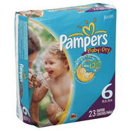 Pampers Baby Dry Diapers, Size 6 (35+ lb), Sesame Street, Jumbo, 23 diapers at Kmart.com