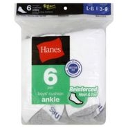 Hanes Socks, Cushion Ankle, Boys', Large, 6 pair at Kmart.com