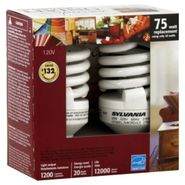 Sylvania Living Spaces Light Bulbs, CFL, Instant-On., 2 bulbs at Kmart.com