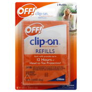 Off! Clip-On Mosquito Repellent, Refills, 2 - 0.0016 oz refills [0.0032 oz] at Kmart.com