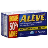 Aleve Pain Reliever/Fever Reducer, Caplets, 75 tablets at Kmart.com