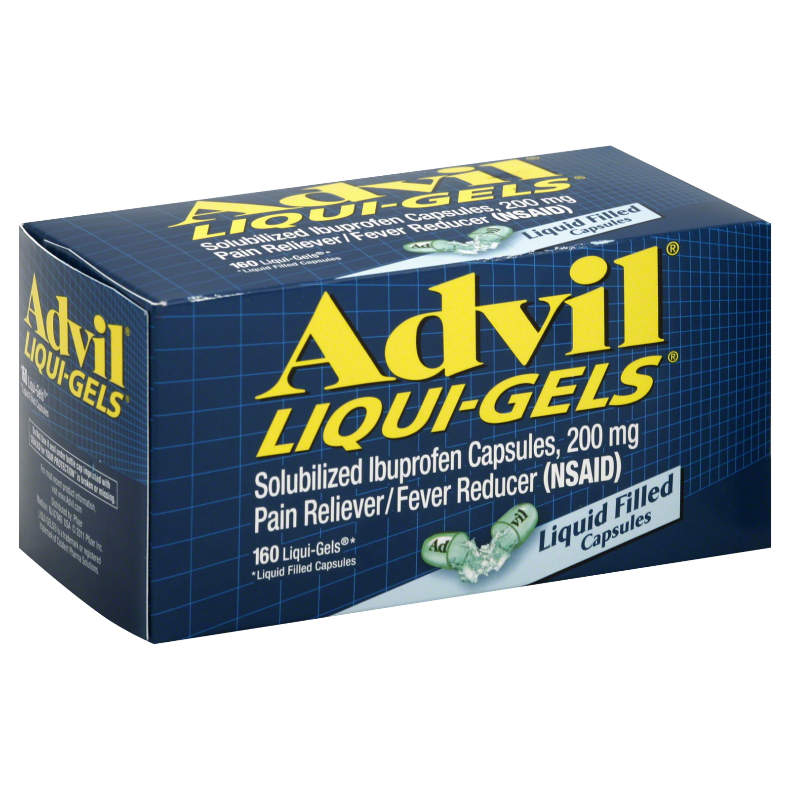 Liqui-Gels Pain Reliever/Fever Reducer, 200 mg, Liquid Filled Capsules, 160 liqui-gels                                           at mygofer.com